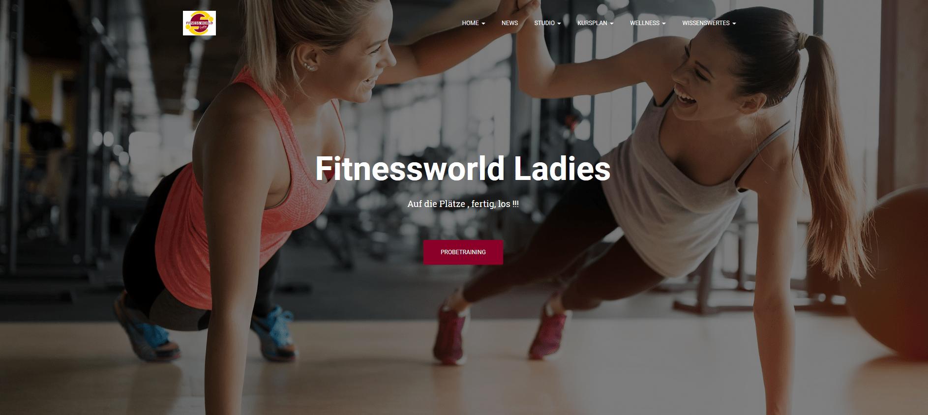 Fitnessworld Ladies Augsburg Webdesign Augsburg