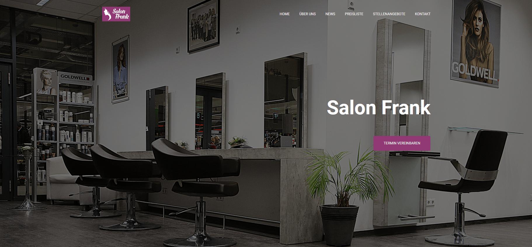 Salon Frank Augsburg Webdesign Augsburg